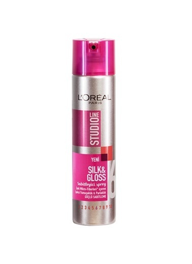 Studio Line L'Oréal Studio Line Silk & Gloss 6 Numara Sabitleyici Sprey 250 ml Güçlü sabitleme Renkli